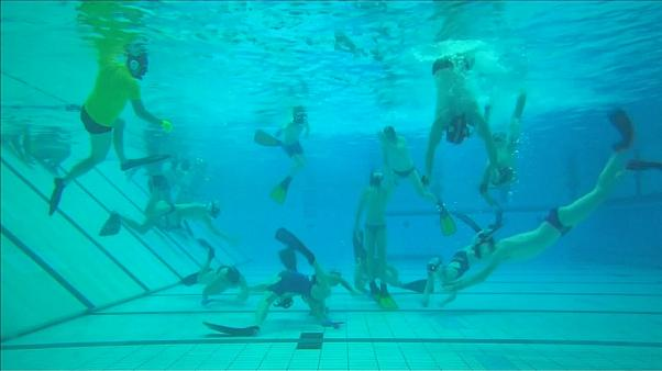 Underwater hockey 'Octopush' thrives in Britain