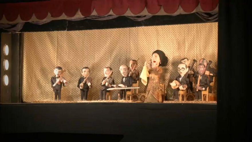 نمایش عروسکی امکلثوم در قاهره