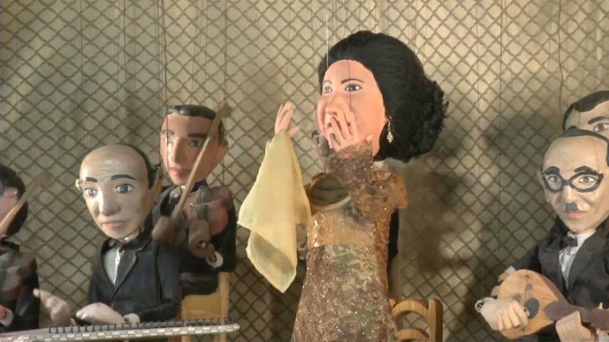 Singer Om Kalthoum in puppet show