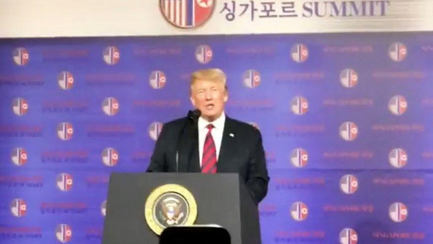 ترامب متفائل قبيل القمة التاريخية مع كيم جونغ أون