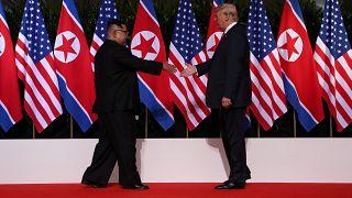 Der Handschlag des Jahres in Singapur: Kim und Trump
