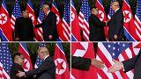 شاهد: مصافحة القرن بين ترامب وكيم جونغ أون