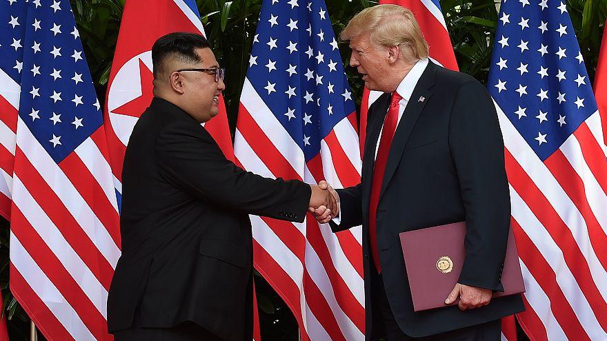 Trump y Kim, una imagen para la historia