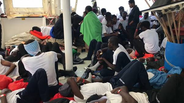 Two Italian ships will escort the Aquarius vessel full of 629 migrants to Spain