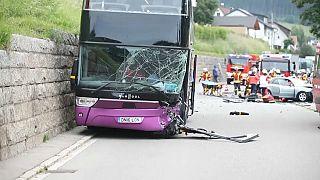 Nine British teenagers injuried in double decker bus crash in Germany