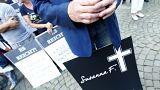 Manifestation d'extrême droite à Mainz, en Allemagne, en mémoire de Susanna