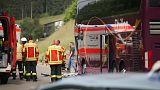Busunfall im Schwarzwald