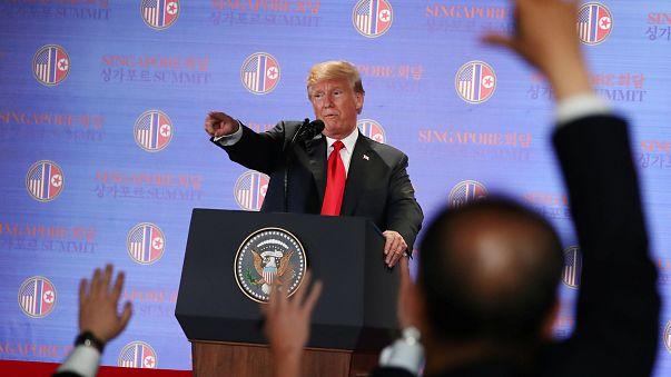 """Trump tras el encuentro con Kim: """"Vamos a acabar con los juegos de guerra"""""""