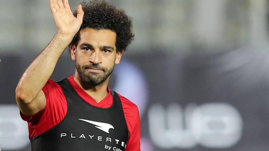 Team Egypt's Salah poses with Chechen leader ahead of World Cup