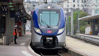 Francia TGV a lyoni Part dieu pályaudvaron