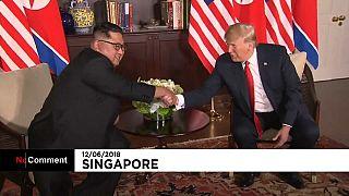 Trump,  Kim y sus apretones de mano para la historia