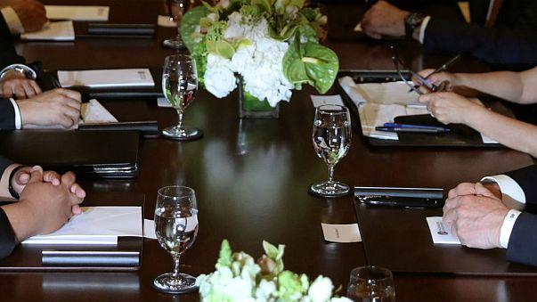 Trump ve Kim yemekte ne yedi?