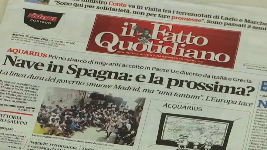 Aquarius: решение не всем итальянцам в радость