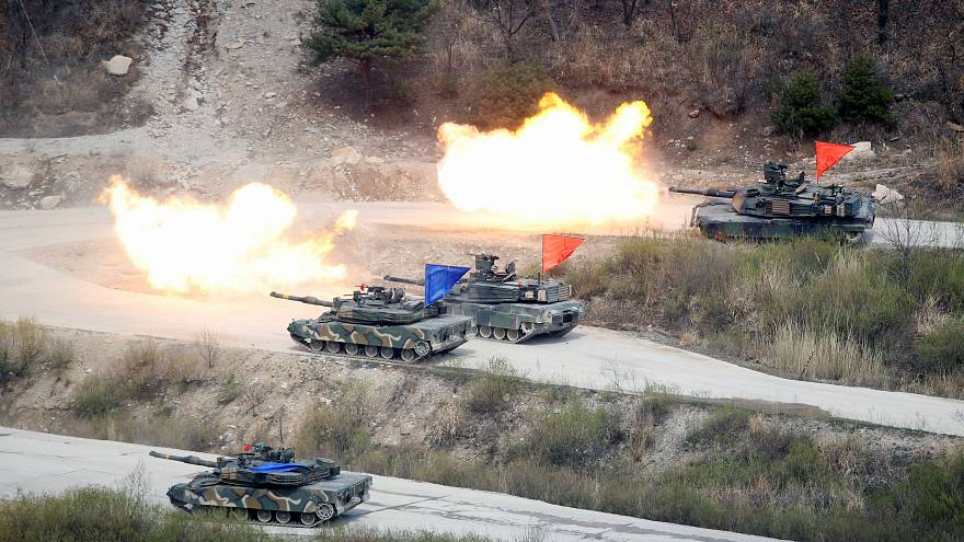 US and South Korean forces at a firing exercise