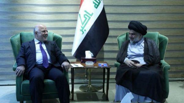 الصدر والعامري يعلنان التحالف والعبادي يعارض إعادة الانتخابات