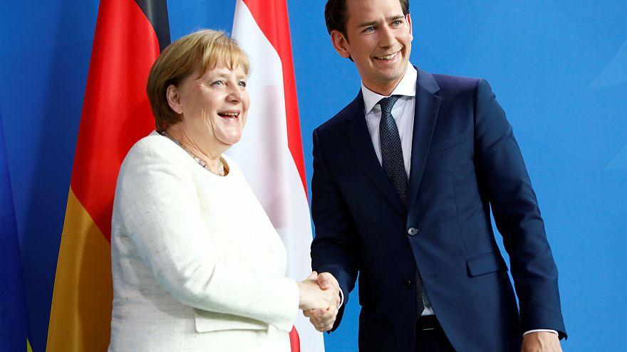 Merkel und Kurz beraten über Flüchtlingspolitik