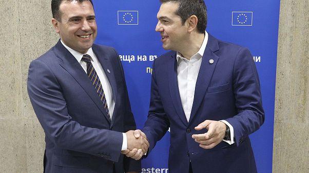 Ο Α.Τσίπρας με τον Ζ.Ζάεφ στη Σύνοδο ΕΕ - Δυτ.Βαλκανίων στη Σόφια