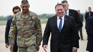 US Secretary of State Mike Pompeo arrives in South Korea, June 13, 2018