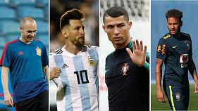 Iniesta, Messi, Cristiano Ronaldo ou Neymar, quem irá celebrar no final?