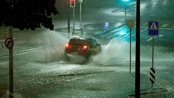 Pluie diluvienne en Suisse, à Lausanne, le 11 juin