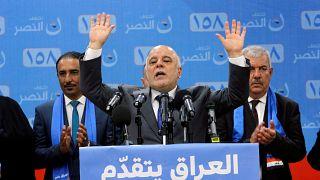 رئيس الوزراء العراقي حيدر العبادي في كركوك يوم 28 ابريل نيسان 2018.