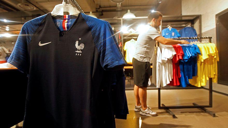 Egy Nike márkabolt a franciaországi Marseiile-ben
