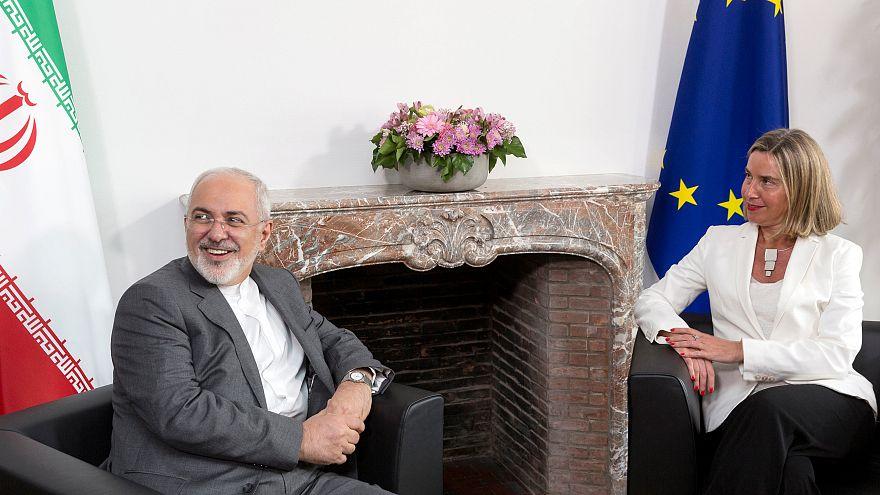 Chefes da diplomacia do Irão e da União Europeia