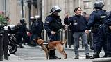 French police with their dog