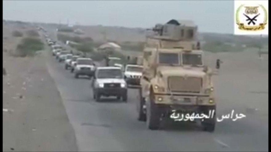 شاهد: قوات التحالف العربي بقيادة السعودية تتجه إلى ميناء الحديدة اليمني