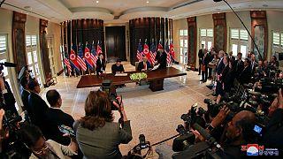 Donald Trump and North Korea's leader Kim Jong Un