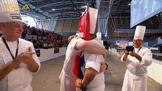 Chefs congratulate winner Christian André Petterson