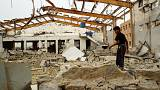 Doctors Without Borders medical facility after it was hit by an air strike
