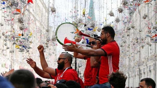 egypt fans in moscow