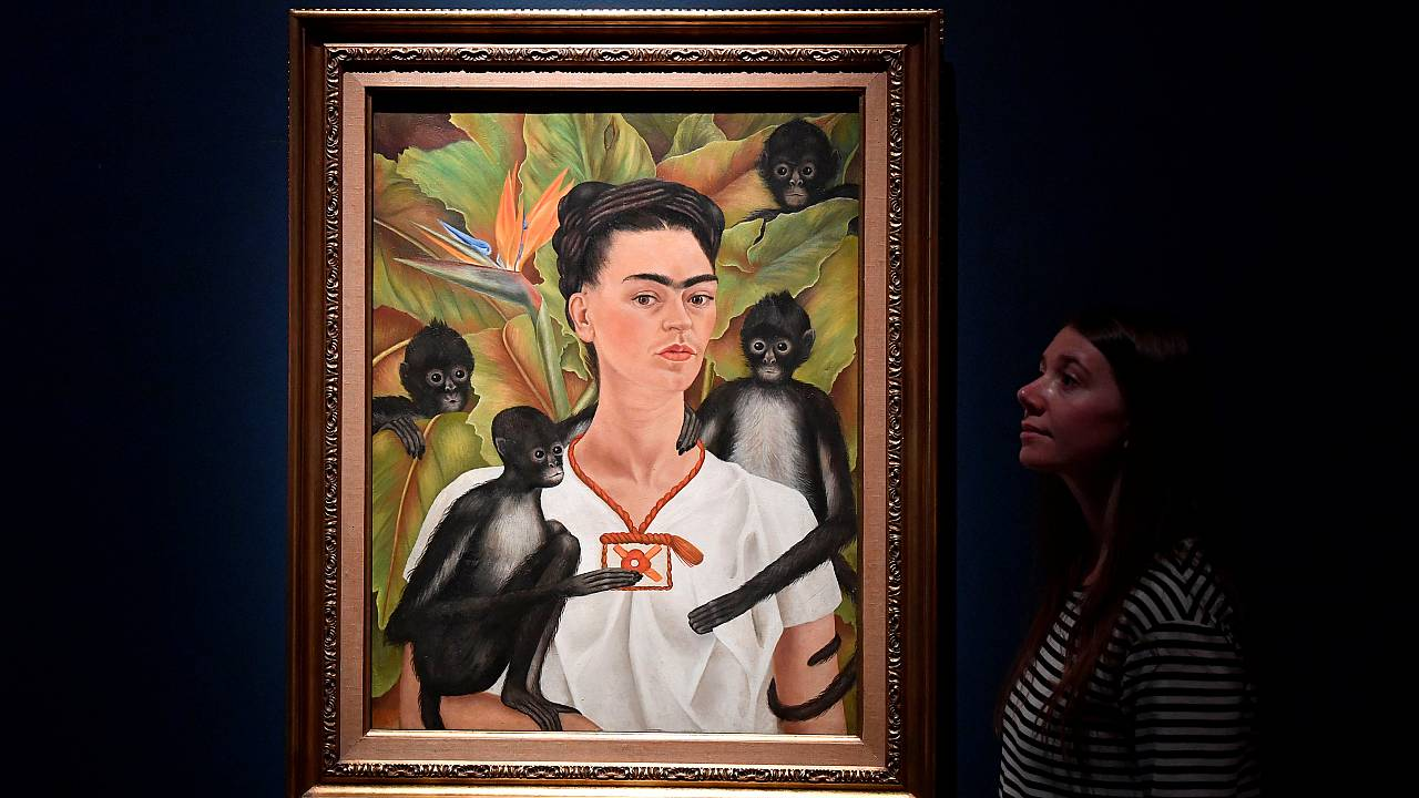 A Frida Kahlo painting on display in London