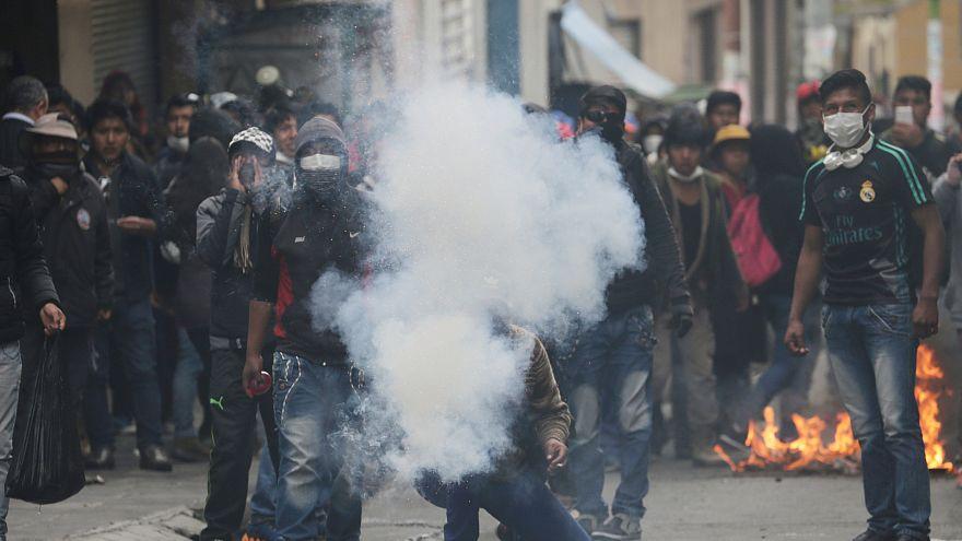Blutige Straßenkämpfe in Bolivien