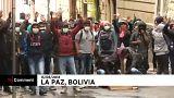 Diáktüntetés Bolíviában