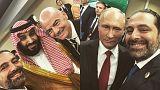 سيلفي جديد للحريري يجمعه مع بوتين وبن سلمان في افتتاح كأس العالم