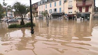 El sudoeste de Francia, bajo las aguas