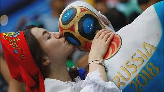 Fan festivities hit fever pitch in Moscow