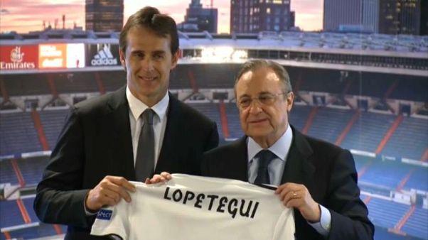 Il Real Madrid presenta Lopetegui