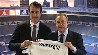 Lopetegui llega al Real Madrid entre lágrimas