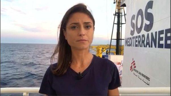"""L'inviata di Euronews: """"su Aquarius condizioni stabili"""""""