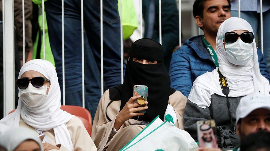 المرأة السعودية على المدرجات في مونديال روسيا