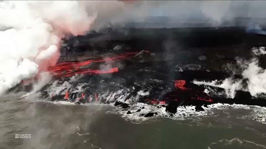 Meglepetést is tartogatott a hawaii vulkán