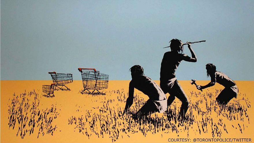 Watch: Thief steals €30K Banksy artwork from Toronto exhibition