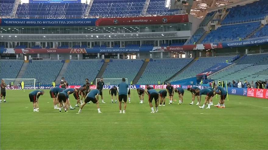 Spain's World Cup squad in training