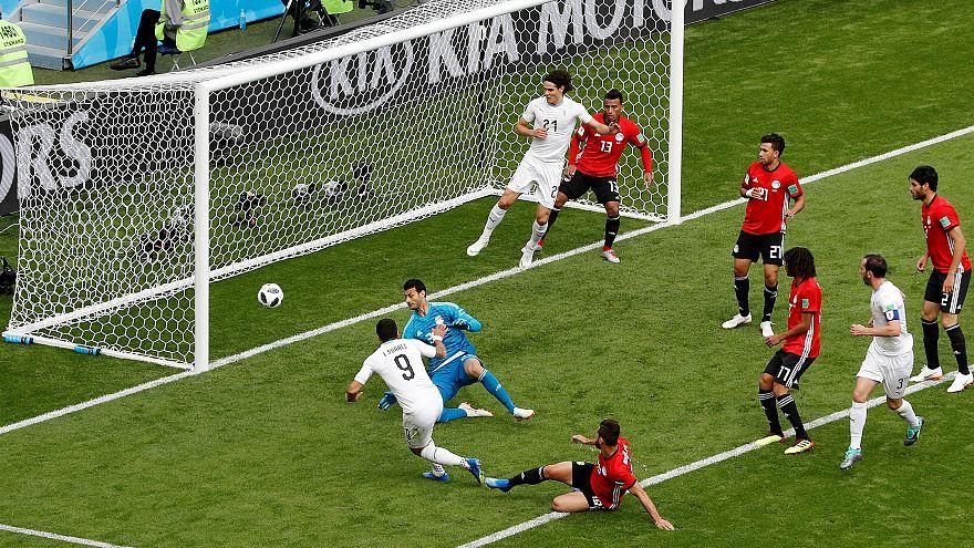 No sign of Salah as Uruguay beats Egypt 1-0