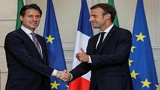 دیدار رهبران ایتالیا و فرانسه؛ پایان تنش های دیپلماتیک