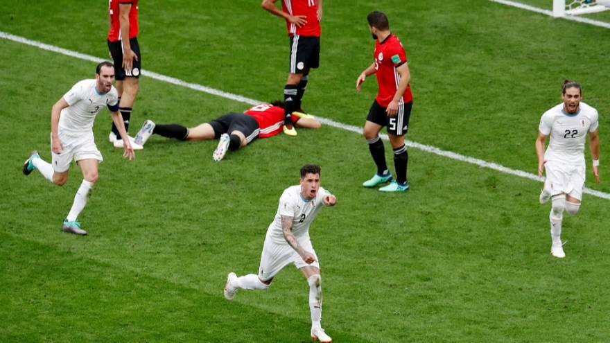 مونديال روسيا: المتتخب المصري يتعثر امام أوروغواي بهدف لصفر