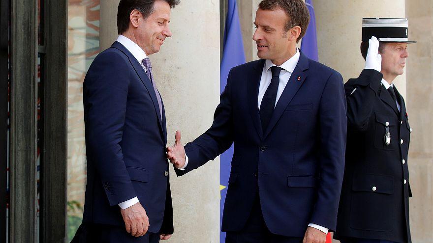 Macron e Conte afastam tensões e defendem reforma de políticas migratórias